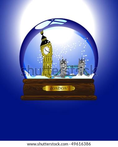 Snow-Globe London - stock vector