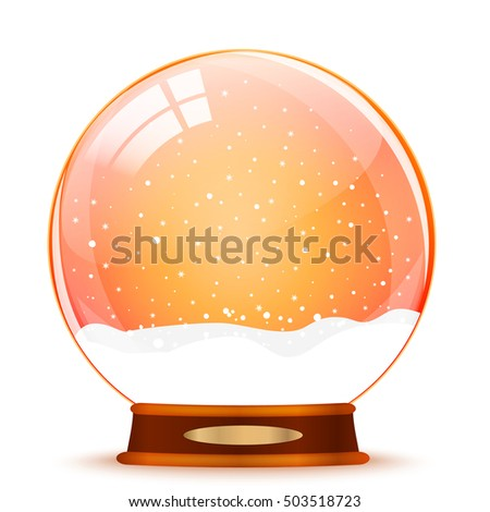 Snow globe on white background vector
