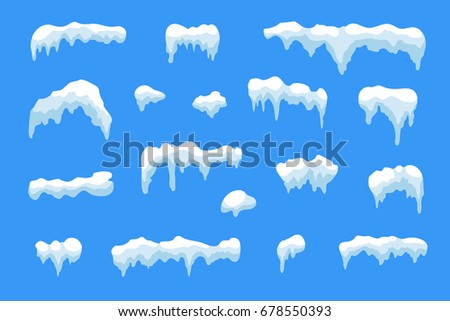 snow ice icicle set winter design stock vector royalty free