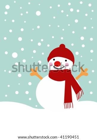 snow man 1 - stock vector