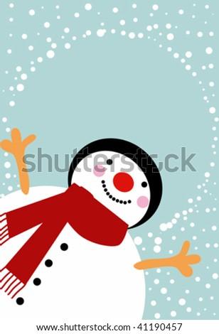 snow man 2 - stock vector