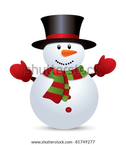 Snow Man - stock vector
