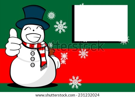 snow man cartoon xmas background card in vector format very easy to edit