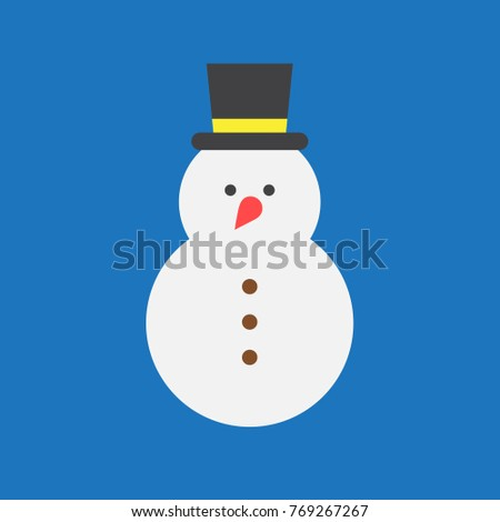 Snow man vector.