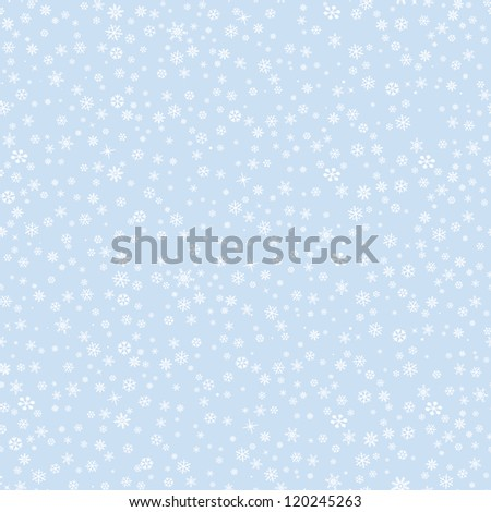 Snow pattern. Christmas seamless vector background.