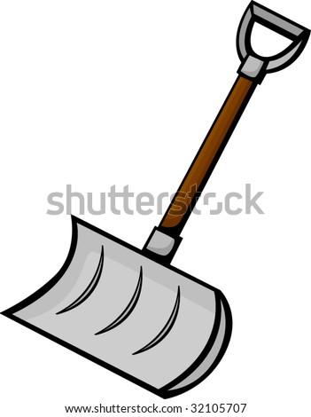 snow shovel - stock vector
