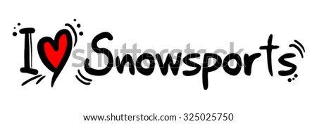 Snow sports love - stock vector