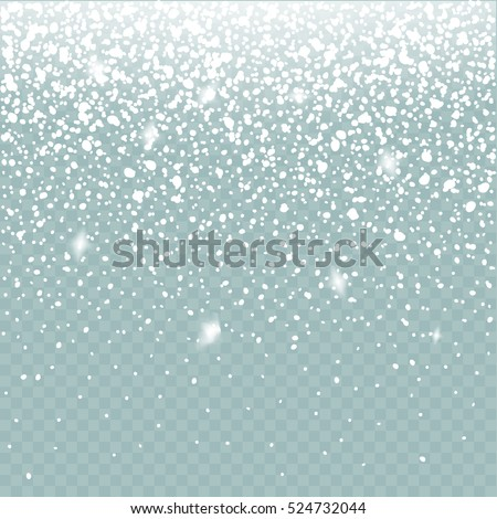 Snow vector effect isolated. Falling Snow winter cold weather. Christmas snowfall decoration background.