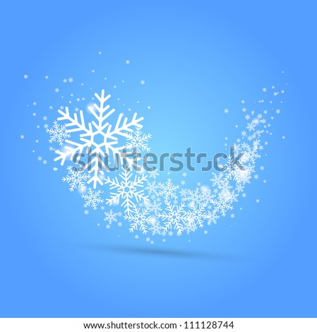 Snow wave. Vector - stock vector