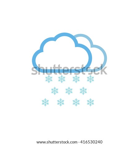Snow weather forecast icon vector illustration - stock vector