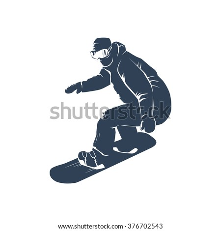 Snowboarder silhouette. Vector illustration