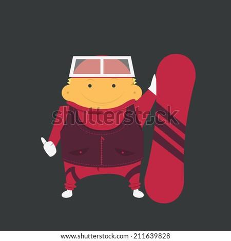 Snowboarder, sportsman - stock vector