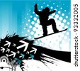snowboarding background - stock vector
