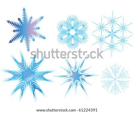 Snowflake abstract - stock vector