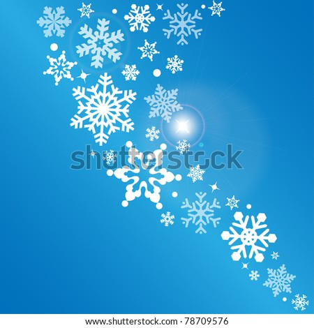 Snowflake - abstract vector background - stock vector