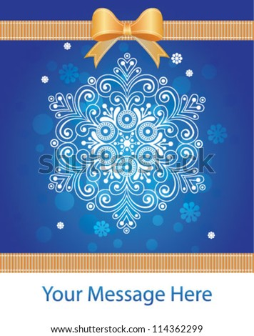 Snowflake Snow Greeting Card Banner Design Stock Vector