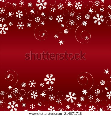 Snowflake Background - stock vector