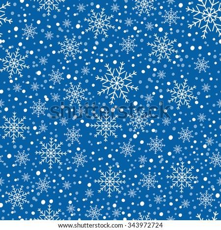 Snowflake background,  - stock vector