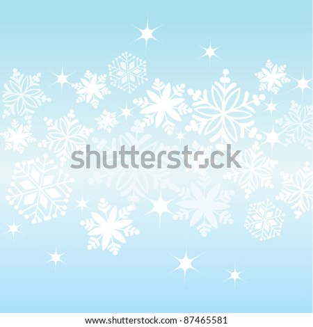 Snowflake background frame - stock vector