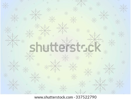 Snowflake christmas background - stock vector