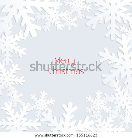 Snowflake Christmas / Winter Background - vector eps10