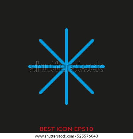 snowflake, cold, winter, vector icon, eps10