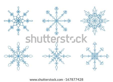 Snowflake Collection - stock vector