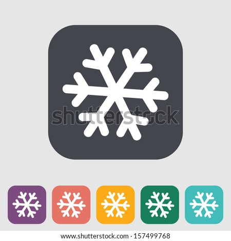 Snowflake flat icon. Vector illustration EPS. - stock vector
