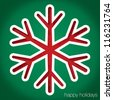 """Snowflake """"Happy Holidays"""" cut out card in vector format. - stock vector"""