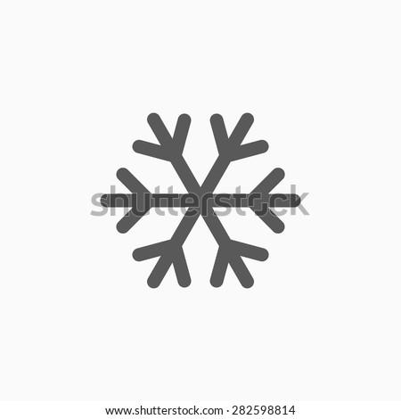 snowflake icon - stock vector