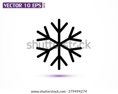 Snowflake icon - stock vector