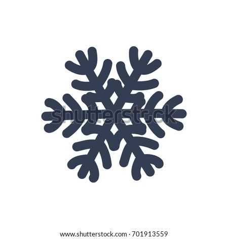 Snowflake Icon Black Silhouette Snow Flake Stock Vector 2018