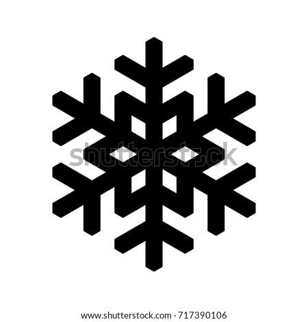 Simple Snowflake Silhouette Snowflake Icon Christm...