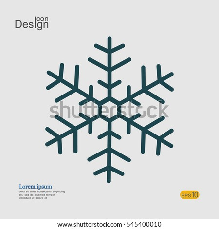 Snowflake Icon Graphic Sign Minimal Symbol Stock Vector 545400010