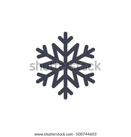Snowflake Icon Gray Silhouette Snow Flake Stock Vector 508744603