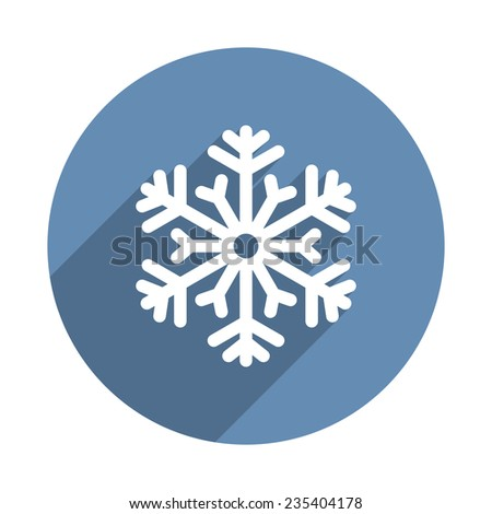 Snowflake Icon in Flat Design Style. Vector illustration - stock vector