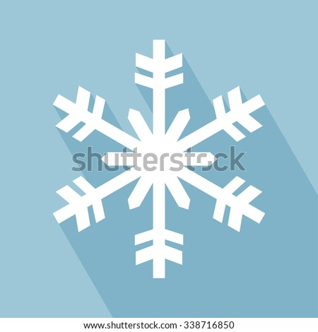 Snowflake Icon. Snowflake Icon with Long Shadow. Snowflake Icon in Flat Design Style. EPS 10 vector illustration for design. All in a single layer. Vector illustration. - stock vector