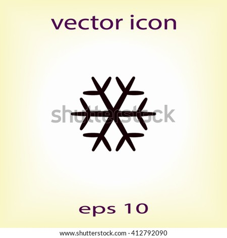 Snowflake icon, vector illustration. Flat design style - stock vector