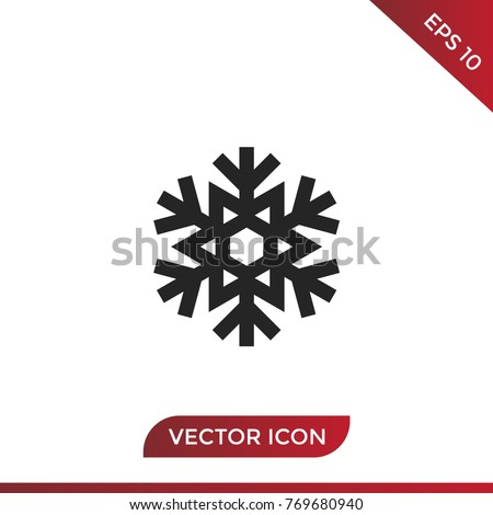 Snowflake Icon Vector Snow Symbol Star Stock Vector 769680940