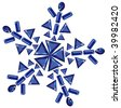 Snowflake made from different cut sapphire - stock vector