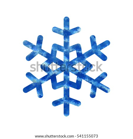 Snowflake Mosaic Icon Blue Silhouette Snow Stock Vector 541155073