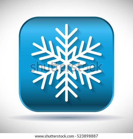 snowflake on button
