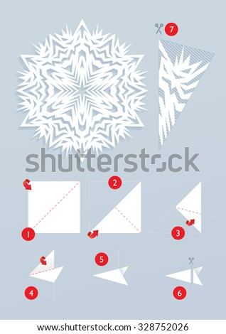 how to make paper snowflake chains easy