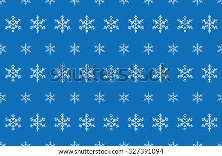 Snowflake Pattern - Snowflake vector pattern - stock vector