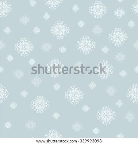 Snowflake Pattern - Snowflake vector pattern.  - stock vector