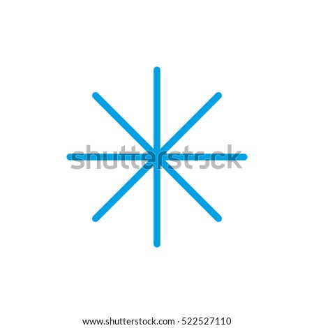snowflake, pop, vector icon, eps10
