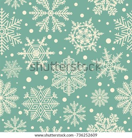 Snowflake Seamless Pat...