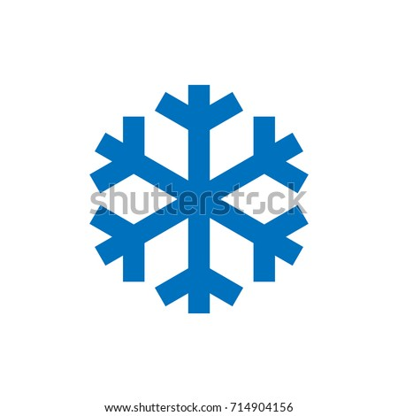 snowflake sign blue snowflake icon isolated stock vector