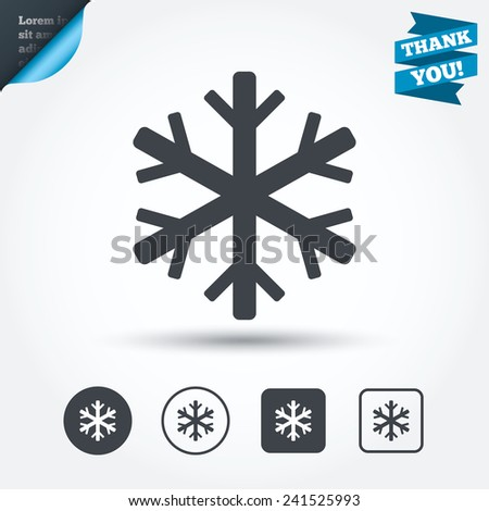 Snowflake Sign Icon Air Conditioning Symbol Stock Vector 241525993