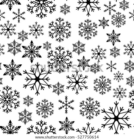 Golden Snowflake Simple Seamless Pattern Abstract Stock ...